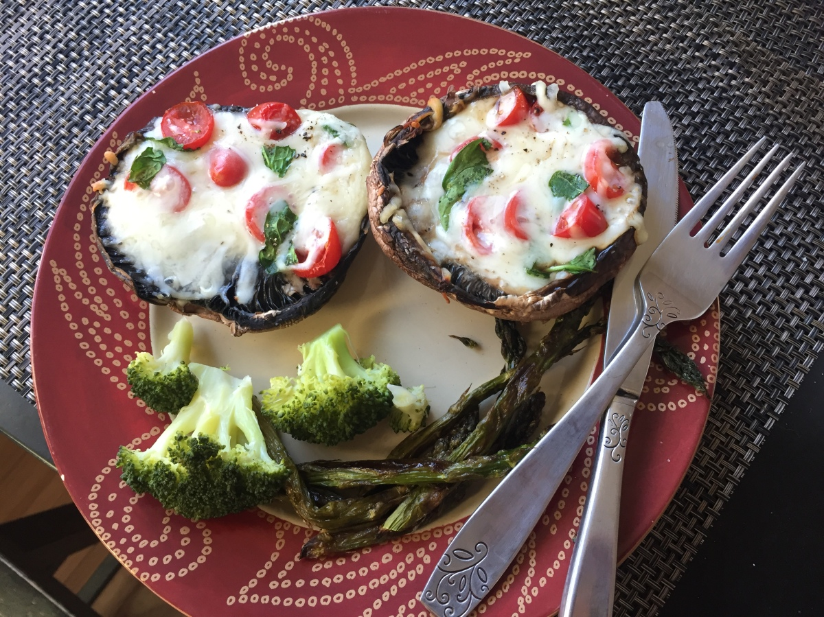 "Portobello Mushrooms ""Pizzas"""